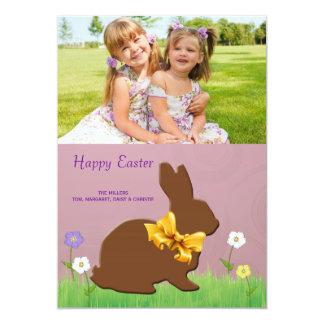 Chocolate Bunny Photo Easter Card