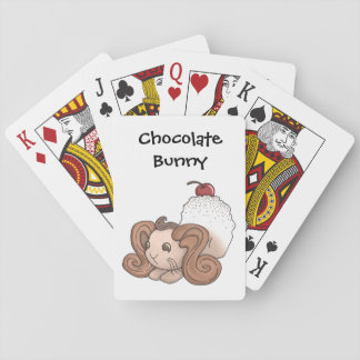 Chocolate Bunny Playing Cards