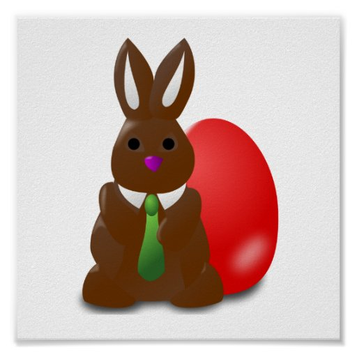 Chocolate Bunny Poster
