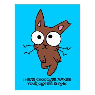 Chocolate Bunny Shrink Post Card