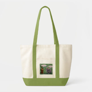 Chocolate Bunny talking to a real bunny rabbit Tote Bag