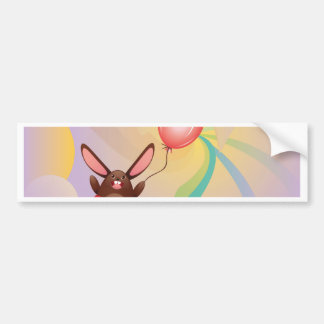 Chocolate Bunny with Balloon2 Bumper Sticker