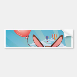 Chocolate Bunny with Balloon Bumper Sticker