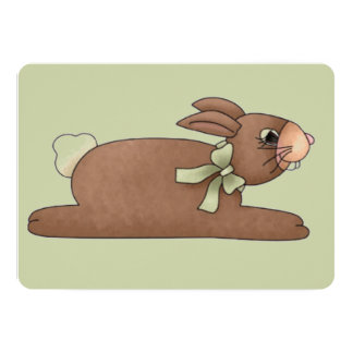 Chocolate Bunny with Lite Green Bow Card