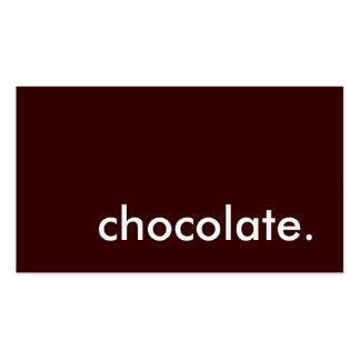 chocolate. business card