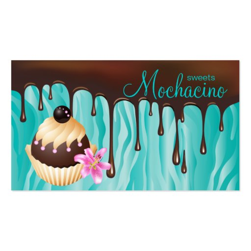 Chocolate Business Card Bakery Cupcake (front side)