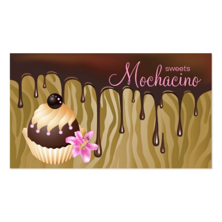 Dripping Chocolate or Caramel Cupcake Baker Business Cards