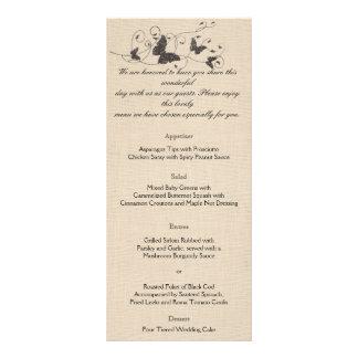 Chocolate Butterflies on Ecru Wedding Menu Personalized Rack Card