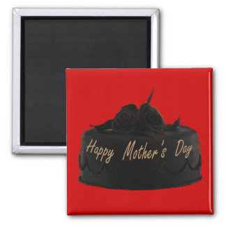 Chocolate Cake and Chocolate Roses Mother's Day Magnet