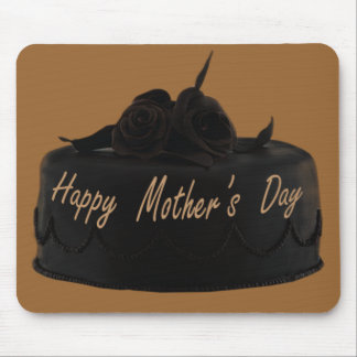 Chocolate Cake and Chocolate Roses Mother's Day Mouse Pad