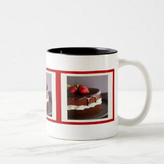 Chocolate Cake and Strawberries Mug