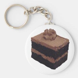 Chocolate Cake Basic Round Button Keychain