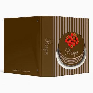 """Chocolate Cake & Berries Recipe Binder 1.5"""""""