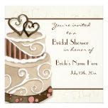 Chocolate Cake Bridal Shower Invitation