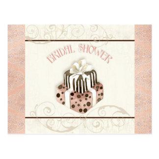 Chocolate Cake Bridal Shower Invitation Postcards
