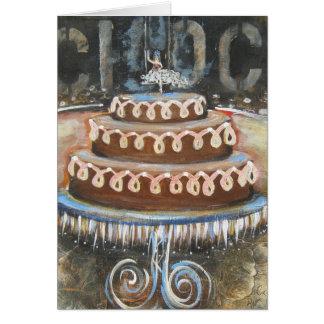 Chocolate cake card