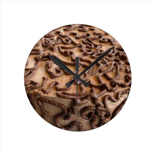 Chocolate cake clock
