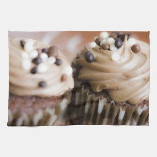 Chocolate Cake Cupcake Sweets Dessert Candy Art Hand Towels