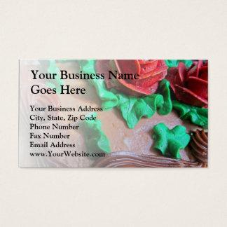 Chocolate Cake Decorating Business Card