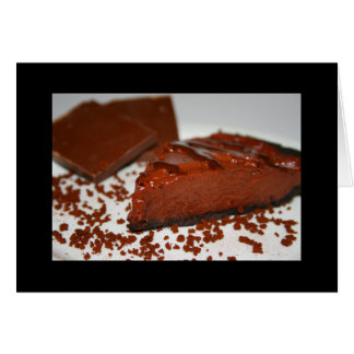 Chocolate Cake Greeting Card and Note Card