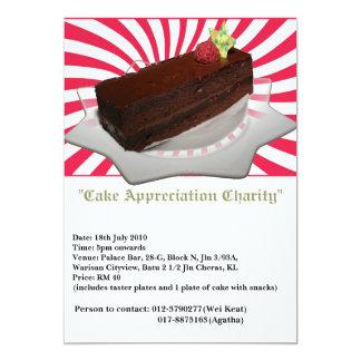 "Chocolate cake 5"" x 7"" invitation card"