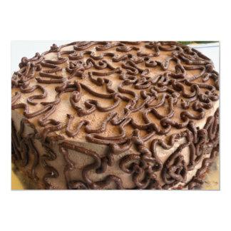 Chocolate cake invitations