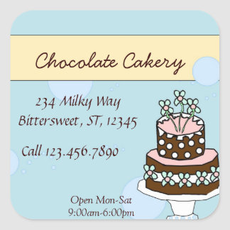 Chocolate cake large label