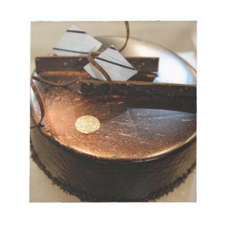 Chocolate cake notepad