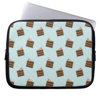 Chocolate Cake Pattern Computer Sleeve