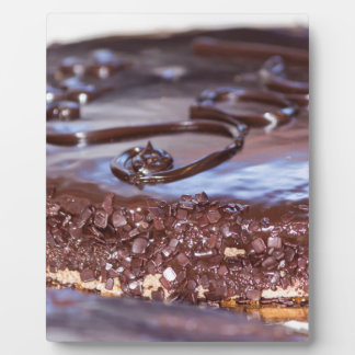 chocolate cake plaque