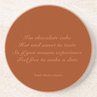 chocolate cake poems drink coaster