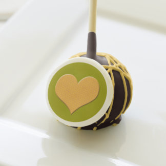 Chocolate Cake Pops with Yellow Icing (1 dozen)