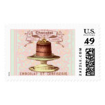 Chocolate Cake Postage Stamps