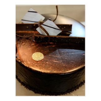 Chocolate cake postcard
