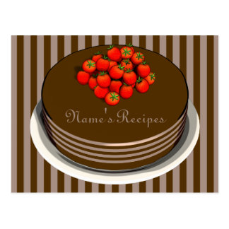 Chocolate Cake Recipe Cards