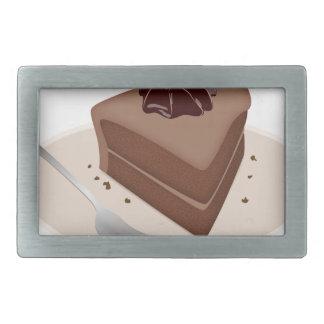 Chocolate Cake Rectangular Belt Buckle