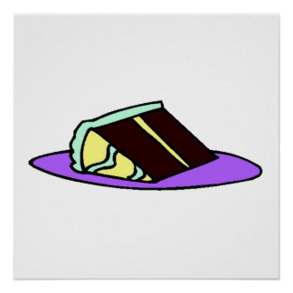 Chocolate Cake Slice Poster