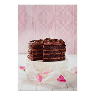 Chocolate cake, South Africa Poster