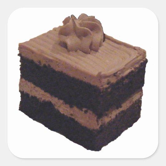 Chocolate Cake Square Sticker