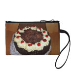 Chocolate cake with cream coin wallet