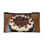 Chocolate cake with cream cosmetic bags
