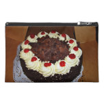 Chocolate cake with cream travel accessories bags