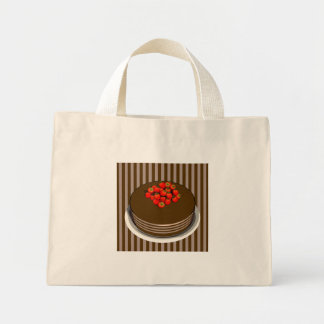 Chocolate Cake with Strawberries, striped  - Tote
