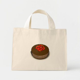 Chocolate Cake with Strawberries - Tote