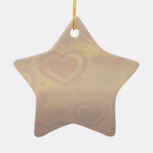 Chocolate caliente adorno navideño de cerámica en forma de estrella