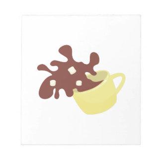 Chocolate caliente bloc de papel
