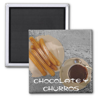 Chocolate Caliente con Churros Magnet