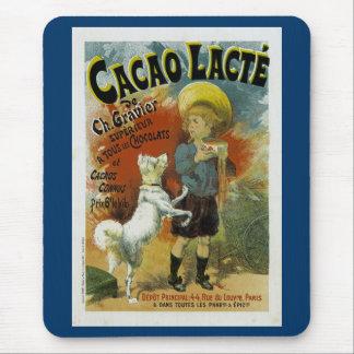 Chocolate caliente de Lacte del cacao Tapetes De Ratones