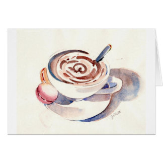 Chocolate caliente de París Tarjeta Pequeña