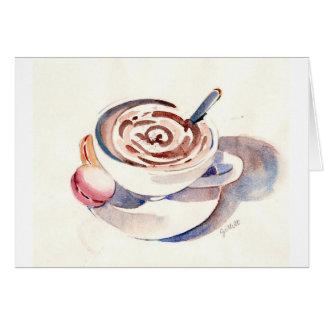 Chocolate caliente de París Tarjetón